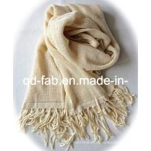 Bufanda / mantón caliente del cáñamo de la venta el 100% con las borlas (PHS-100)