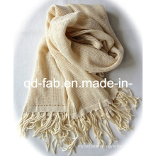 Hot Sale 100% Hemp Scarf /Shawl with Tassels (PHS-100)