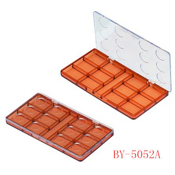Square 12 Pans Brown Eyeshadow Container