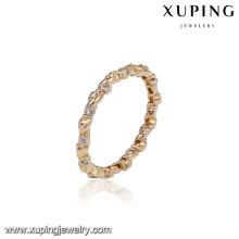 14975 Latest gold finger ring designs 18k gold color fashion elegant ring for girls