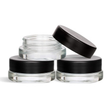 eco-friendly  skincare clear  glass eyes  cream cosmetic container jar