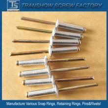 Remache ciego de acero galvanizado color de 4.8X19mm