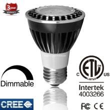 ETL 6.5W Dimmable LED PAR20 Spot Light