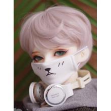 BJD Boy/Girl weiße Gesichtsmaske für YOSD/MSD/SD/70CM Puppe