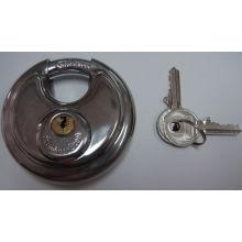 Günstige Shengli Edelstahl Runde Disc Vorhängeschloss mit flachen Schlüssel