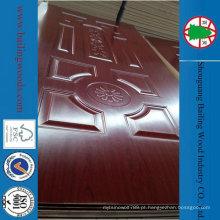 China Doorskin de madeira folheado decorativo barato do folheado do projeto da porta interior