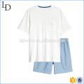 Top and shorts casual men cotton shorts pajamas sets