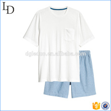 Top and shorts casual men cotton shorts pajamas sets