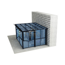 Telescópica Folding Door Janela Screen Sunroom Glass House