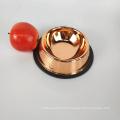 mirror polished stainless steel bowl rose gold feeding pet dog bowls