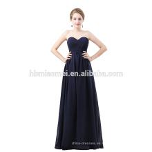 Vestido de noche de color azul royal de manga corta vestido de noche con cuentas pajarita corbata larga vestido de noche para la boda
