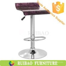 Cobertura de assento de bar de acrílico moderna / banco de madeira