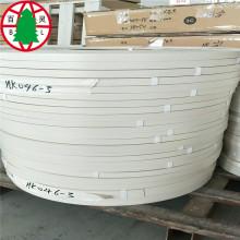 Bande de chant en ABS blanc grain de bois pour meubles