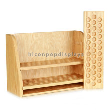 Concise 3-Layer Detachable Wooden Essential Oil Display Rack, Countertop Wood Rack For Essential Oils