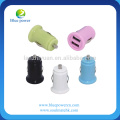 High quality mini design 2 port usb car charger with ce certificate