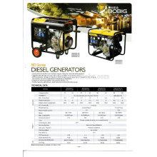 El aire caliente de la venta enfrió el sistema de generador diesel 5KW