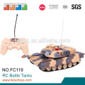 Newest small infrared control battle metal track for rc tank