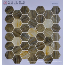 Mosaico de vidrio mosaico Hexigon