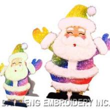 Carte brodée de Noël