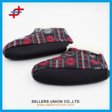 Winter super warme doppelseitige Samt weichen Soled Herren Haus Slipper Schuhe
