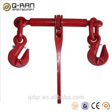 Drop forged or casting ratchet type load binder rigging