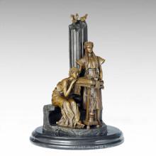 Figura clássica Estátua 2 Maidens Bronze Escultura TPE-1010
