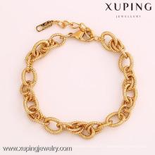 72064 Xuping Fashion Woman Bracelet com banhado a ouro
