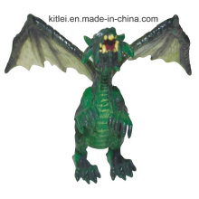 Dragões de brinquedo de plástico pequeno