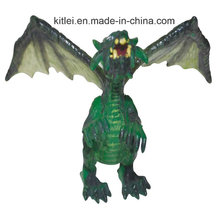 Pequenos dragões de brinquedo de plástico