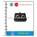 Metal Cufflink com caixa de presente preta
