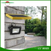 Montado Na parede 12 LED SMD3528 IP65 Solar Lâmpada de Gramado Jardim Luz de Inundação 6 V 3 W Painel Solar LEVOU Holofote com 2200 mAh Bateria