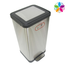15L Stainless Steel Noiseless Close Foot Pedal Waste Bin (A5-SC-15L)