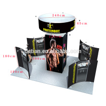 Водопаду детиан предлагаем самый дешевый изготовленный на заказ быстрая ткань стойка дисплея форма Шанхае
