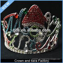 Tiara de encargo de la corona del rey de la princesa del cumpleaños