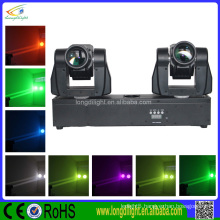 New led effect two heads moving spot lighting 2*10W party disco lights