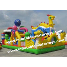 0.55mm Pvc Tarpaulin Kids Inflatable Obstacle Climbing,bouncing,sliding And Jumping Amusement Park