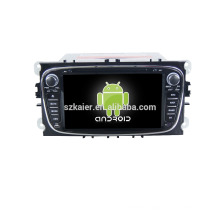 Quad core!car dvd with mirror link/DVR/TPMS/OBD2 for 7inch touch screen quad core 4.4 Android system MONDEO