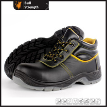 Ação couro meio corte de segurança sapato com sola de PU/PU (SN5453)