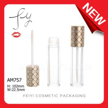 Fashion Small With Grid Lid Empty Aluminium Gloss Tube
