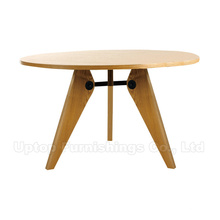 Round Cafe Wood Table Jean Prouve Gueridon (SP-RT456)