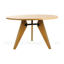 Round Cafe Wood Mesa Jean Prouve Gueridon (SP-RT456)