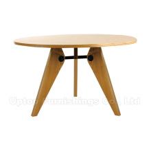 Круглый кафе древесины Жан Пруве пьедестал стол (СП-RT456)