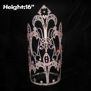 Wholesale 16in Height Custom Pageant Diamonds Crowns