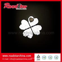 schöne Blume PVC-Klebeband reflektierende Schlüsselanhänger, Schlüsselring