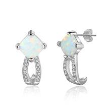 Opal Stone Hot Sale 925 sterling Silver Popular Jewelry Opal Earring for Women