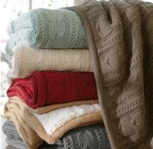 मखमली कश्मीरी के साथ गर्म बुनाई कंबल