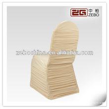 Moderne Entwurfs-kundenspezifische bunte Großhandelsrüsche-Spandex-Stuhl-Abdeckung