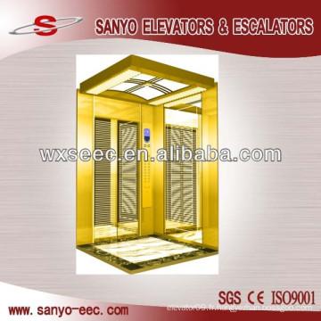 Ascenseur de passager en acier inoxydable plaqué en titane