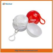 Imperméable léger boule jetables en plastique pour adulte