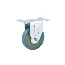 3 inch Grey Rubber Rigid Caster Wheels